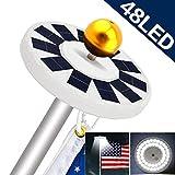 Solar Flag Pole Light, Flagpole Solar Lights 48 Super-Bright LED Downlight Lighting