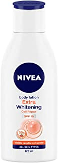 NIVEA Body Lotion, Extra Whitening Cell Repair SPF 15, For All Skin Types, 120ml