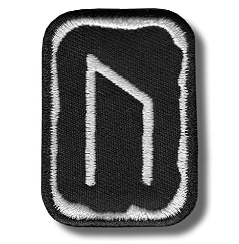 Uruz rune - bordado parche, 4 X 5 cm