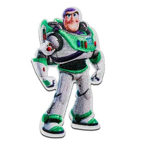Disney Toy Story Buzz Lightyear - Parches termoadhesivos bordados aplique para ropa, tamao: 7,1 x 4 cm