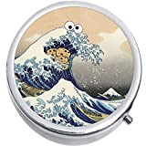 The Great Wave Cookie Monster Classic Medical Pill Box Medicine Pill Box