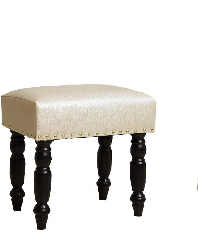 ZHANGGUOHUA-stools Footstool Step Stools Work Stool Retro Living Room Bedroom Solid Wood Multicolor Selection 30  45  43cm (color   Beige)