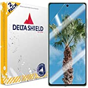 DeltaShield Screen Protector for Samsung Galaxy Note 20 (6.7 inch) (2-Pack) (Case Friendly Version) BodyArmor Anti-Bubble Military-Grade Clear TPU Film