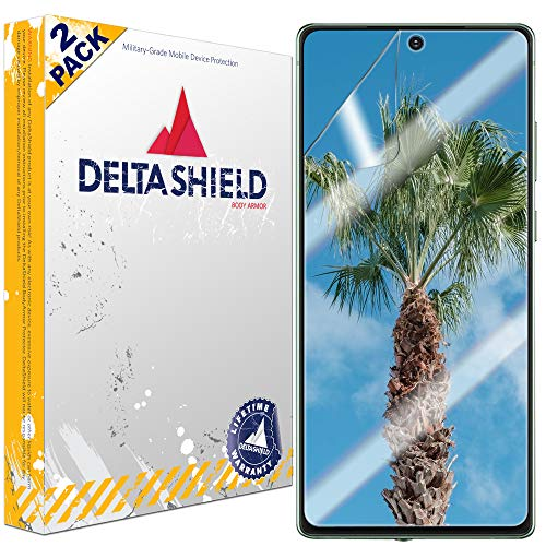 Amazon.com: DeltaShield Screen Protector for Samsung Galaxy Note 20 (6.7 inch) (2-Pack) (Case Friendly Version) BodyArmor Anti-Bubble Military-Grade Clear TPU Film