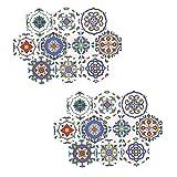 PETSOLA 20Pcs / Set Peel and Stick Backsplash Pegatinas De Azulejos De Piso Impermeables Y Extraíbles