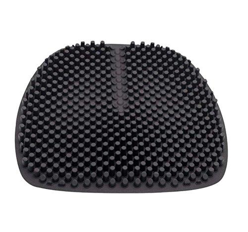 DIELIAN Silikon Auto Sitzkissen 1 Pc Breathable Massage Silikon Auto Innensitz Abdeckungs Kissen Mit Einzigartigem 3D Säulen,Black