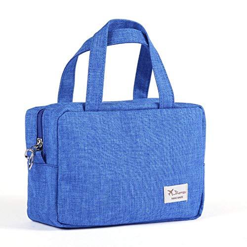 SENDALING Les Femmes Sac à cosmétiques de Haute capacité Porter Voyage Wash Sac Faire Oganizer Sac Lady poignée vers Le Haut de la Toilette,Bleu
