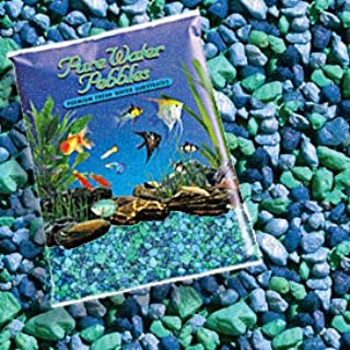 Pure Water Pebbles Nature's Ocean Aquarium Gravel Blue Lagoon Gravel 5-lb