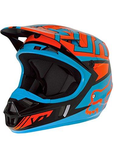 Fox 2017Niños Motocross/MTB Casco–V1Falcon–Casco Negro de Naranja: Tamaño: S (45–46cm)