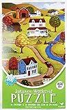 Autumn Weekend Jigsaw Puzzle – Folk Art Feel Vintage Feel 500 Piece Americana Landscape Rural Folksy Picture