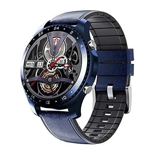 QFSLR Rastreador De Salud Ritmo Cardíaco Presión Arterial Monitor De Sueño Medición De Temperatura Rastreador De Actividad GPS IP68 Smart Watch Android iOS Impermeable,Azul