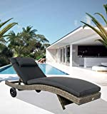 LuxuryGarden–Tumbona De Jardín Piscina Exterior en Rattan Sintético Andresa cm. 200X 74X 30