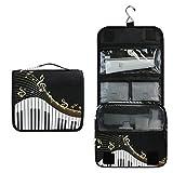 CPYang - Neceser portátil para Colgar en Piano, Teclado, Notas Musicales, Viajes, cosméticos, Kit de tocador para Mujeres y Hombres