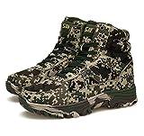 TH&Meoostny Hombres Invierno con Cordones de Excursionismo Caza Zapatos de Trekking Antideslizante algodón Zapatos cálidos Camuflaje Botas de Nieve del ejército táctico Camouflage Green 5