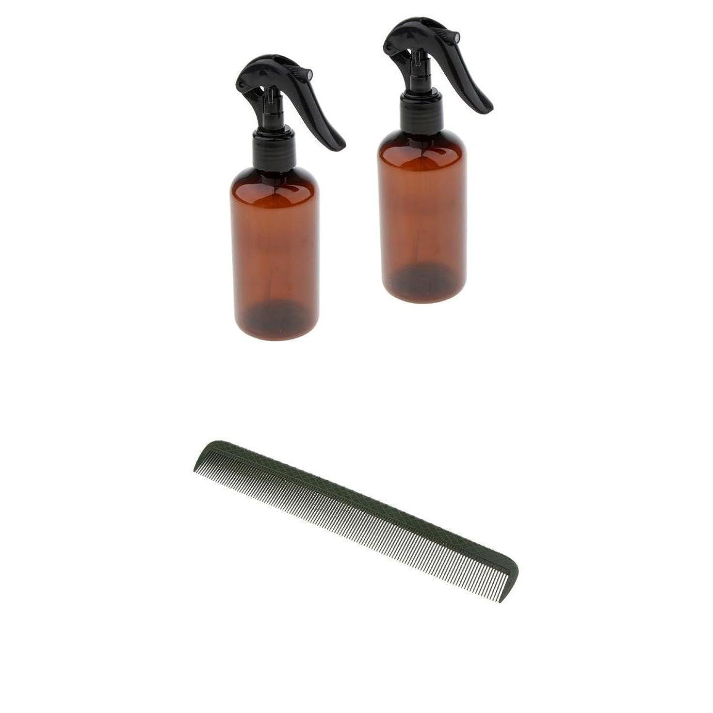 慣性カヌーヘアコーム 櫛 ヘアブラシ ヘアカット トリガーボトル スプレーボトル ファッション 美容 サロン