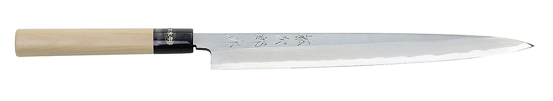 移行するパブ面積藤次郎 青紙鋼(水牛桂柄) そぎ峰柳刃 270mm F-966