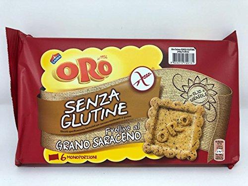 6 Oro Saiwa grano saraceno senza glutine kekse Buchweizen Glutenfrei 240g kuchen