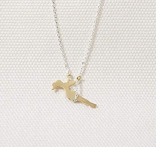 Yaoliangliang Collar Vintage niña Columpio Colgante Collar clavícula Cadena Accesorios de joyería