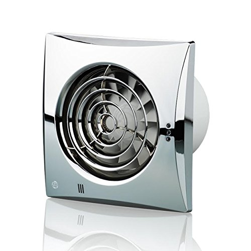Blauberg UK 100 Dunstabzug mit Timer, leise, 100 mm, Chrom, silber, 100 Quiet T Chrome 7.5 wattsW, 240 voltsV