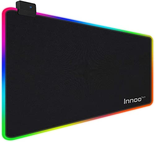 Innoo tech RGB Gaming Mouse Pad, 14 Modes Large Glowing Led Extended Mouse Pad, Anti-Slip Rubber Base and Waterproof ...
