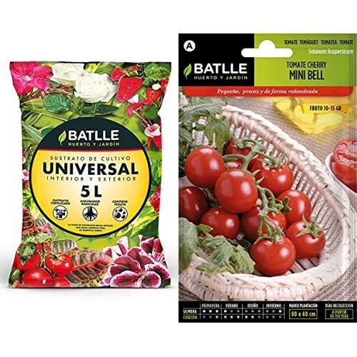 Semillas BatlleSustratos - Sustrato Universal 5L. - Batlle + Hortícolas - Tomate Cocktail Tipo Cherry