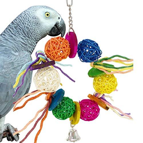 Vogel speelgoed Kleurrijke Ballen Handdoek Gourd Papegaai Macaw Afrikaanse Grijzen Budgies Grappige Bijt Speelgoed