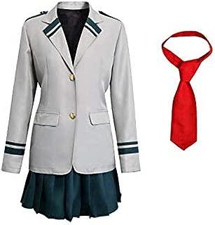 CosplayLife Boku No Hero Academia My Hero Academia Ochaco Uraraka Cosplay Costume Ochako/Tsuyu Blazer Suit School Uniform