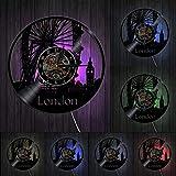 ZZLLL Reloj de Pared de Londres Big Ben Noria decoración de