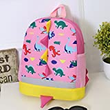 Cartoon Mini Backpack for Women Girls, Dinosaur Printed Rucksack Large Capacity School Bag Personality-Custom Daybag for Travel