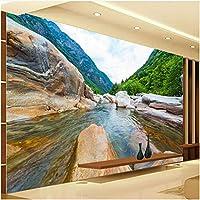 Xbwy 装飾壁画自然の風景ロック壁画壁紙リビングルームの背景壁の装飾壁画-200X140Cm