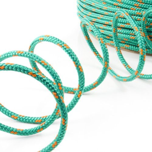 10m POLYPROPYLENSEIL 2mm GRÜN Polypropylen Seil Tauwerk PP Flechtleine Textilseil Reepschnur Leine Schnur Festmacher Rope Kunststoffseil Polyseil geflochten