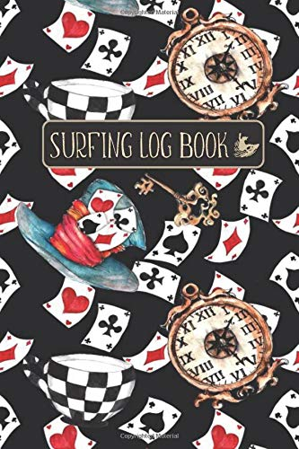 SURFING LOG BOOK: Elegant Cover with Play Card Game Pattern- Record Track Beach Sessions, Location, Weather, Waves, Tide, Board, Equipment, Notes and More
