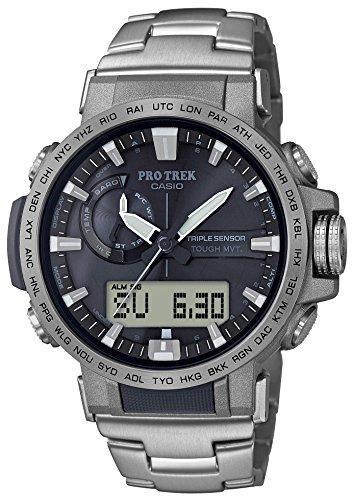 [カシオ] 腕時計 プロトレック クライマーライン 電波ソーラー PRW-60T-7AJF メンズ シルバー