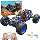 2021 New STEM Building RC Car for Kids, App Programming & RC Toys Kit, Remote Control Car Building Bricks, Monster Truck Building Set, Gift idea for Boys Ages 6 7 8 9 10 11 12+ Year Old (466 Pieces)