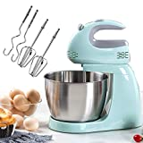 Cake Mixer Dough Mixer Stand Mixer Mixers Kitchen Hand Held Electric Mixer Kitchen Aide Stand Mixers Electric Hand Mixer,5-Speeds, with Stainlesssteel Bowl,Dough Hook,Whisk, Beater.