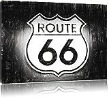 bekanntes Route 66 Schild an einer Wand Format: 120x80 auf