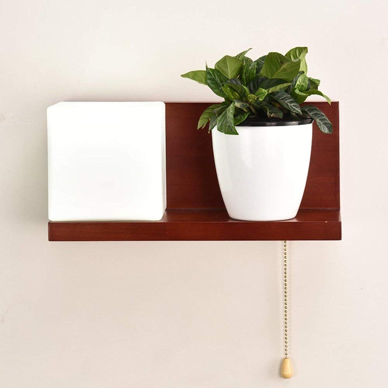 Wandleuchte Massivholz Wohnzimmer Beleuchtung moderne, einfache Zimmer Restaurant Glasgang gang Beleuchtung (Stil  A)