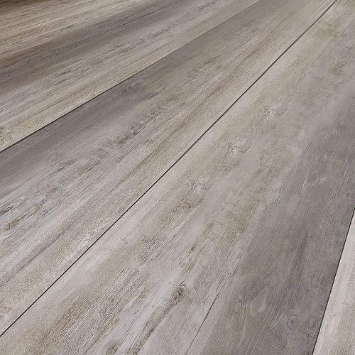 moderna Laminatboden Eiche Laro | horizon Click Bodenbelag Eiche 8mm stark ✓natürliche Tiefenholzstruktur ✓pflegeleicht & laufruhig ✓einfache Click Montage | Eiche grau Laminat Dielen 2,535qm
