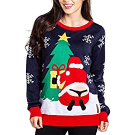 "Tipsy Elves Women's Winter Whale Tail Sweater - Funny Santa Ugly Christmas Sweater 3 ""****LAST CHANCE! Order Today and Save with our Lowest Priced Deals of the Holiday Season. While supplies last!****"" Extremely soft and high quality - will not shrink and does NOT itch. Our Christmas sweaters are made with high quality double-panel construction with reinforced seams. Machine washable and built to last. Tipsy Elves' ugly christmas sweaters are perfect for gifting to all of your friends but most importantly, yourself! Whether you're inside, outside, together or apart, or even stuck in a virtual meeting, whenever you rock your Tipsy Elves gear no one will ever doubt the ferocity of your festive fury."