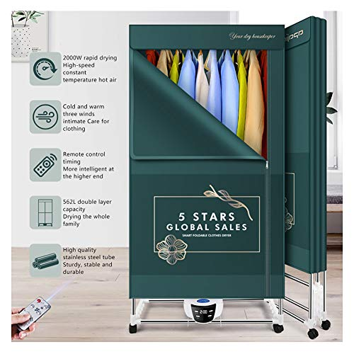 YINING Secadora Plegable,2000W de Alta Potencia/Esterilización a Alta Temperatura/Ropa de Secado rápido...