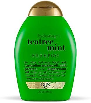 2-Pack Ogx Hydrating Tea Tree Mint Shampoo, 13 Ounce
