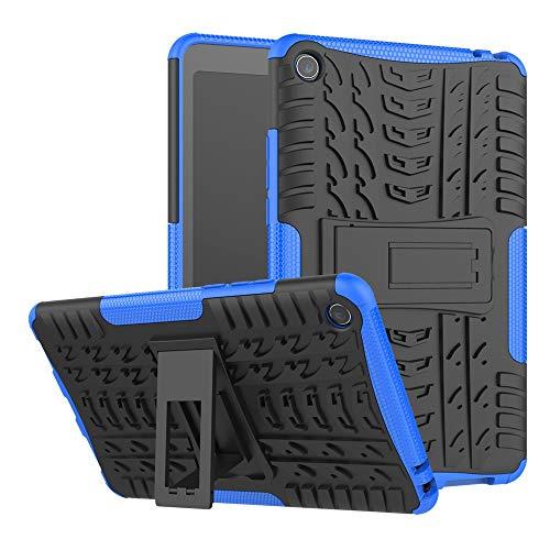 LUSHENG Capa protetora resistente com textura de pneu TPU + PC à prova de choque com função de suporte para Xiaomi Mi Pad 4 8 polegadas (2018) (azul)