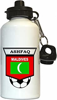 Ali Ashfaq (Maldives) Soccer Water Bottle White