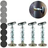 Bed Frame Anti-Shake Tool, Adjustable Threaded, Telescopic Support Anti-Shake Tool for Bed, Prevent loosening, Headboard Stoppers 4 Pack (36mm - 112mm)