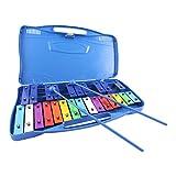 Acandoo Glockenspiels carillón para niños 25 tonos cromático xilófono Azul
