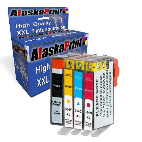 Printercartridge comp. Met HP 364 XL 364XL voor HP Photosmart 5510 e-All-in-One 5511 5512 5514 5515 5520 5522 5524 5525 6510 6520 6512 6515 6525 7510 7520 7515 B8550 B8553 B8558 C5370 C5373 C5324 C5383 B109f B109n B209a B210a printer inktcartridge inktcartridge set van 4