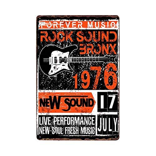 Rock Metal Signs Vintage Plaque Music Poster Retro Tin Plate Bar Decoration Pub Decorative Home Decor 981805