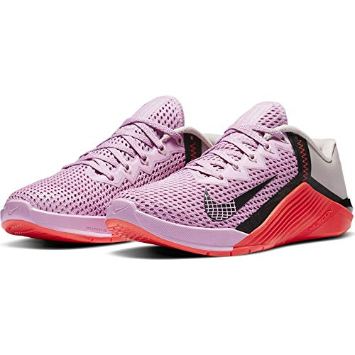 Nike Wmns Metcon 6, Zapatillas de Gimnasio Mujer, Beyond Pink Black Flash Crimson Platinum Violet, 40.5 EU
