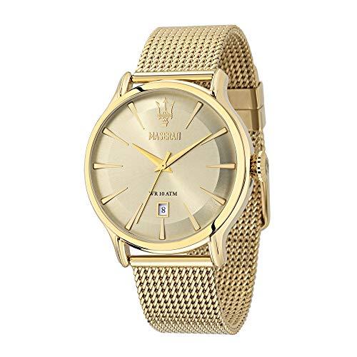 Orologio da uomo, Collezione Epoca, movimento al quarzo, tempo e data, in acciaio, PVD oro - R8853118003