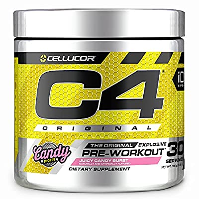 C4 Original Pre Workout Powder Juicy Candy Burst | Sugar Free Preworkout Energy Supplement for Men & Women | 150mg Caffeine + Beta Alanine + Creatine | 30 Servings